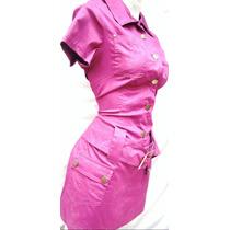 Mini Vestido Bluson Popelina Algodon Tambien Tallas Extra