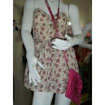 Vestido Jumper Strapless Estampado Dama M-32 Short Integrado
