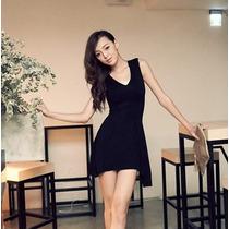 Vestido Corto Encaje Elegante, Estilo Japonés Casual 589