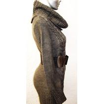 Bluson Sweter Cuello Totuga Tejido Punto Moda Otoño Invierno
