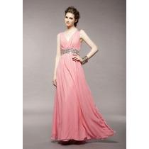 Elegante Vestido Largo En Rosa
