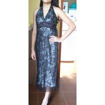 Vestido Estampado Flores Largo Talla 4 (ch-m)