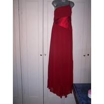Precioso Vestido Rojo Largo De Noche
