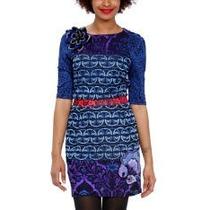 Vestido De La Marca Espanola Desigual Mod.lady Blue Talla M