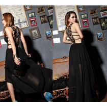 Elegante Vestido De Moda Oriental Negro Envio Inmediato