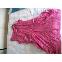 Divino Vestido Rosa Barbie Fiusha Satinado Limpia De Closet