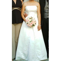 Vestido De Novia Strapless Linea A Ivory Swarovski Talla 5-7