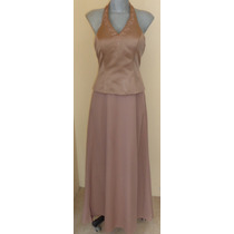 Elegante Vestido Cafe Talla 6 (28 Mex)