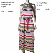 Vestido Tommy Hilfiger Maxidress Multicolor Talla Grande