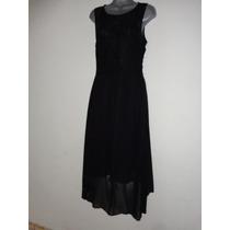 Vestido Negro De Gasa Tallas: S Mod 459