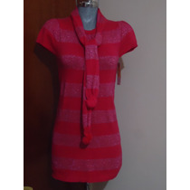 Moda Japonesa Asiatica Vestido Tejido Corto Color Rosa 28-30