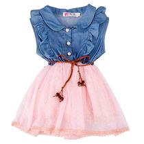 Taboö Kid - Vestido Corto Bicolor Con Mezclilla - 14353