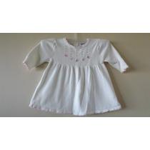 Vestido Blanco Marca Carters Talla 6-9 Meses