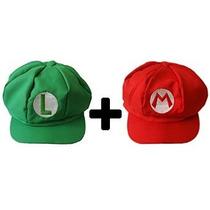 Hotshopping 2 Pcs Super Mario Bros Sombrero Luigi Cap Cospla