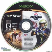 Top Spin/ Ncaa Football 2005 Xbox Excelente Estad Solo Disco
