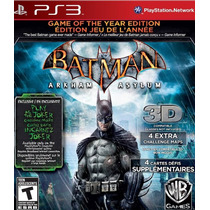 Batman Arkham Asylum Game Of The Year Greatest Hits Ps3