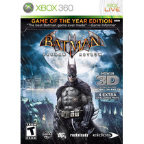 Batman Arkham Asylum Game Of Year Nuevo Sellado Xbox 360