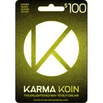 Tarjeta Gift Card Karma Koin 100 Usd Juegos Musica En Linea