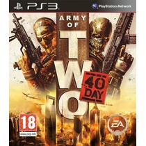 Army Of Two 2 Ps3 Videojuego En Caja Sellado Nuevo
