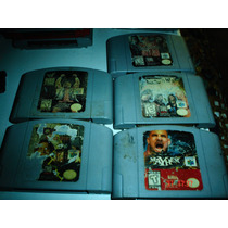Nintendo 64 Paquete 5 Juegos De Lucha Libre Americana Wwe