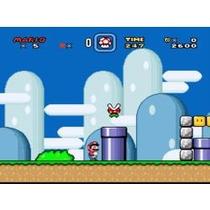 Super Nintendo Super Mario World Portada Restaurada