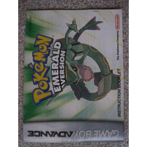 Manual, Instructivo Pokemon Emerald Game Boy Advance