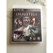 !en Remate Excelente Juego Injustice Gods Among Us Para Ps3¡