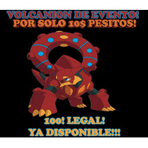 Pokémon Volcanion De Evento Especial Para Or, As, X, Y