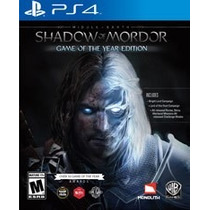 Middle-earth Shadow Of Mordor Game Of The Year Ps4 Nuevo
