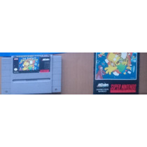 The Simpsons Bart Nigthmare Con Manual Snes Super Nintendo