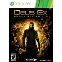 Deus Ex Human Revolution Nuevo Sellado Xbox 360
