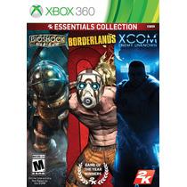 Bioshock, Borderlands Y Xcom Enemy Unknown Nuevo Xbox 360 !!