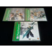 Colección Final Fantasy 7, 8 Y 9!!! Nuevos Y Sellados!!!