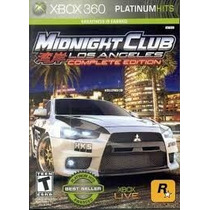 Midnight Club Los Angeles Complete Nuevo Sellado Xbox 360