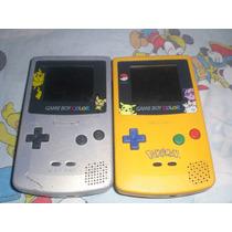 2 Game Boy Color Edicion Pokemon + 6 Juegos De Pokemon