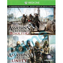 Assassins Unity Y Black Flag Codigo Descargable Xbox One