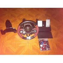 Volante Y Pedales Para Ps3 Con Juego Gran Turismo 5 Accesori