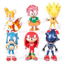 Envío Gratis * Sonic The Hedgehog * Set De 6 Figiuras
