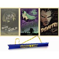 Darkstalker Poster Set Edicion Limitada 250 Piezas Exclusivo