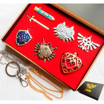 Zelda Collar Set De 6 Legend Necklace Ocarina Dije Majoras