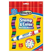 Roseart Sello N Color Marcadores Lavables 15-count Colores S