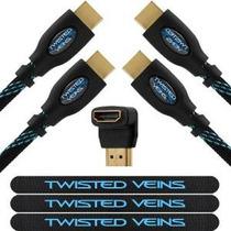 Twisted Venas Dos (2) Paquete De (6 Pies) Cables Hdmi De Alt