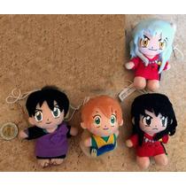 Set De 4 Peluches Chibi Inuyasha Japonés Bandai Gashapon