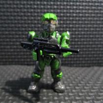 Halo Wars Mega Bloks Minifigura Marine Unsc Verde