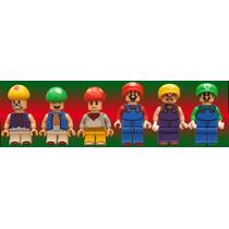 Set De Minifiguras De Super Mario Bros Compatibles Con Lego