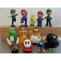 Set 1 Y 2 Completos 12 Figuras Nintendo Súper Mario Bros Hm4