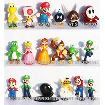 Set 18 Figuras Super Mario Bros Coleccion Yoshi Nintendo