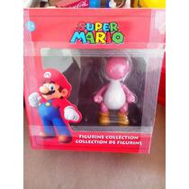 Genial Muñeco De Colección Yoshi Rosa De Super Mario Bros