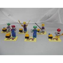 Coleccion De Figuras Tipo Lego De Super Mario Bros 6 Pzas