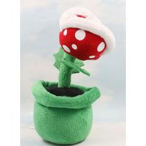 Mario Bros - Figura De Peluche Planta Carnivora